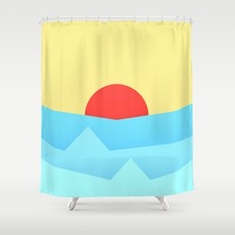 Childish Sunset Shower Curtain