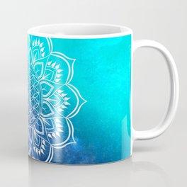Flower of Life Mandala Blue Coffee Mug