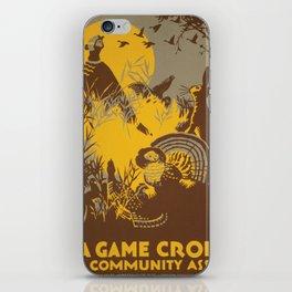 Vintage poster - Game Crop iPhone Skin