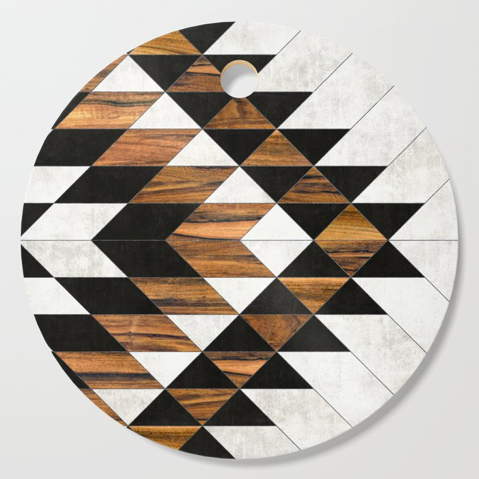 Urban Tribal Pattern 9 - Aztec - Concrete and Wood Cutting Board