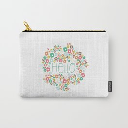 Hello flowers Carry-All Pouch