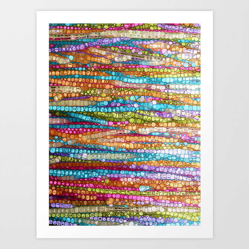 Rainbow Mosaic Art Print By Jokevermeer Society6