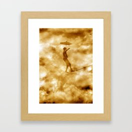 Tightrope Walker Framed Art Print