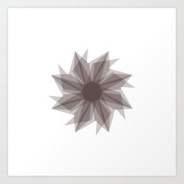 Starburst 2 gray Art Print