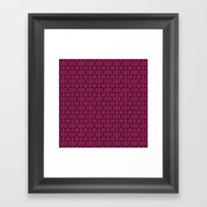 Pink Yarrow Floral Framed Art Print