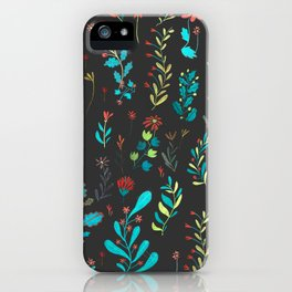 Plants in black iPhone Case