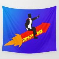 rocket Wall Tapestries featuring Rocket Man  by Sammycrafts