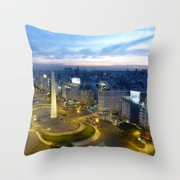 Buenos Aires Obelisco Throw Pillow