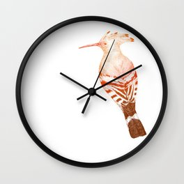 Eurasian hoopoe (color) Wall Clock