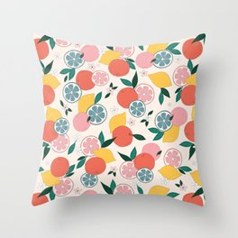 Citrus crush Throw Pillow