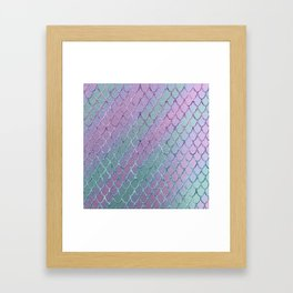 Mermaid Princess Glitter Scales Glam #1 #shiny #stripes #decor #art #society6 Framed Art Print