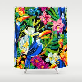 Tropical Parrots Shower Curtain
