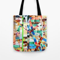 bianca green Tote Bags featuring Bianca (stripes 22) by Wayne Edson Bryan