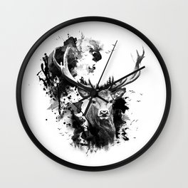Once upon a Stag Wall Clock