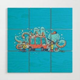 Octopus Carwash Wood Wall Art