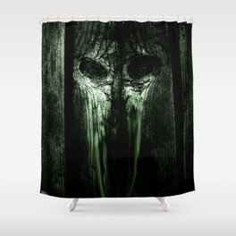 The Evil Woodboard  Shower Curtain