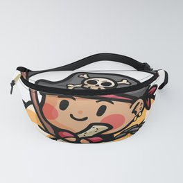 Pirate life buoy anchor treasure map Kids gift Fanny Pack