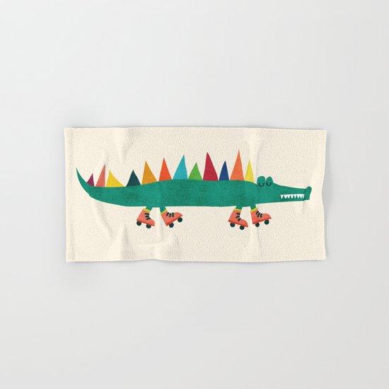 Crocodile on Roller Skates Hand & Bath Towel