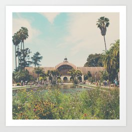 the botanical building in Balboa Park, San Diego Art Print