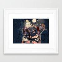 buffy Framed Art Prints featuring Buffy by Karina R