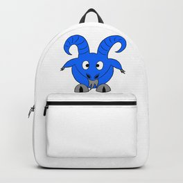Drawing cartoon of a male goat Backpack