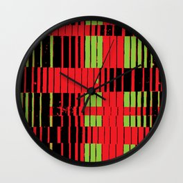 greencriss redcross Wall Clock