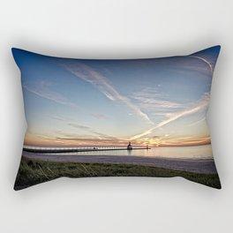 Late Summer Sunset Rectangular Pillow