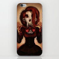 theatre iPhone & iPod Skins featuring Skull Theatre by Anna Lisa Wardle