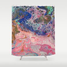 Flamingos by the Sea Shower Curtain