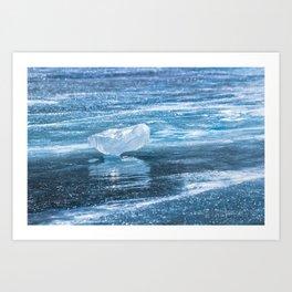 Ice diamond of Baikal Art Print