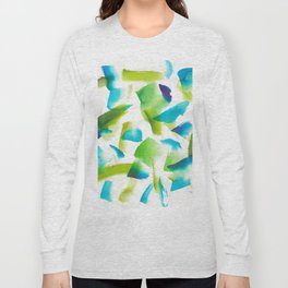 180719 Koh-I-Noor Watercolour Abstract 28| Watercolor Brush Strokes Long Sleeve T-shirt