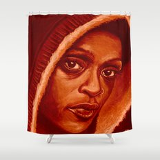 black panther refresh Shower Curtain