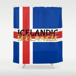 Icelandic Horses Cartoon Shower Curtain
