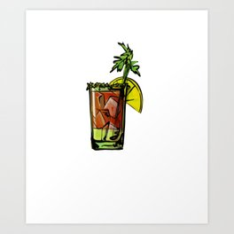 Christmas Eat Drink and Be Merry Art Print