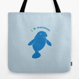 I love Manatees Tote Bag