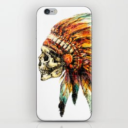 Skull Colorful Chief iPhone Skin