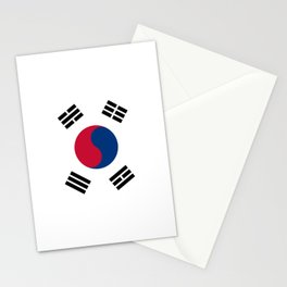 South Korean flag - officially the Republic of Korea, Authentic version - color and scale Stationery Cards