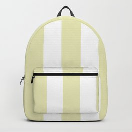 Spring green (Crayola) - solid color - white vertical lines pattern Backpack