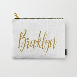 Brooklyn Typographic Poster Carry-All Pouch