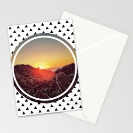 Peel sunset - small triangle graphic Stationery Cards