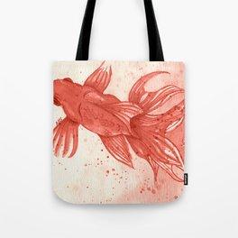 Carmine goldfishes Tote Bag