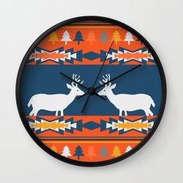 Deer winter pattern Wall Clock