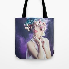 Purple smoke Tote Bag