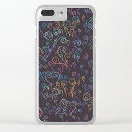 Pixelated Spirals Clear iPhone Case