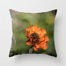 Bee Butt Throw Pillow
