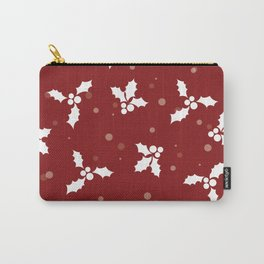 Red christmas pattern Carry-All Pouch