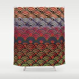Art Deco Seigaiha 1 Shower Curtain