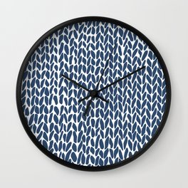 Hand Knit Zoom Navy Wall Clock
