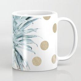 Pineapple crown - gold confetti Coffee Mug
