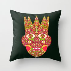 The Psychedelic Daemon I Throw Pillow